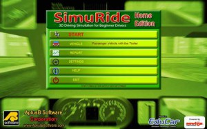 SimuRide Home Edition Main Menu