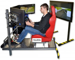 Car Driving Simulator - 4 monitors setup