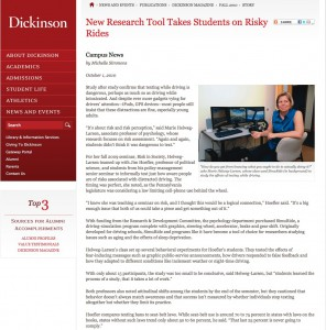 Campus news driving simulation article