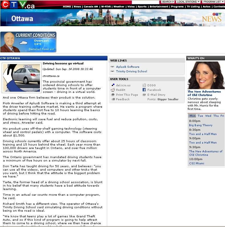 TV Interview 14 sept 2008